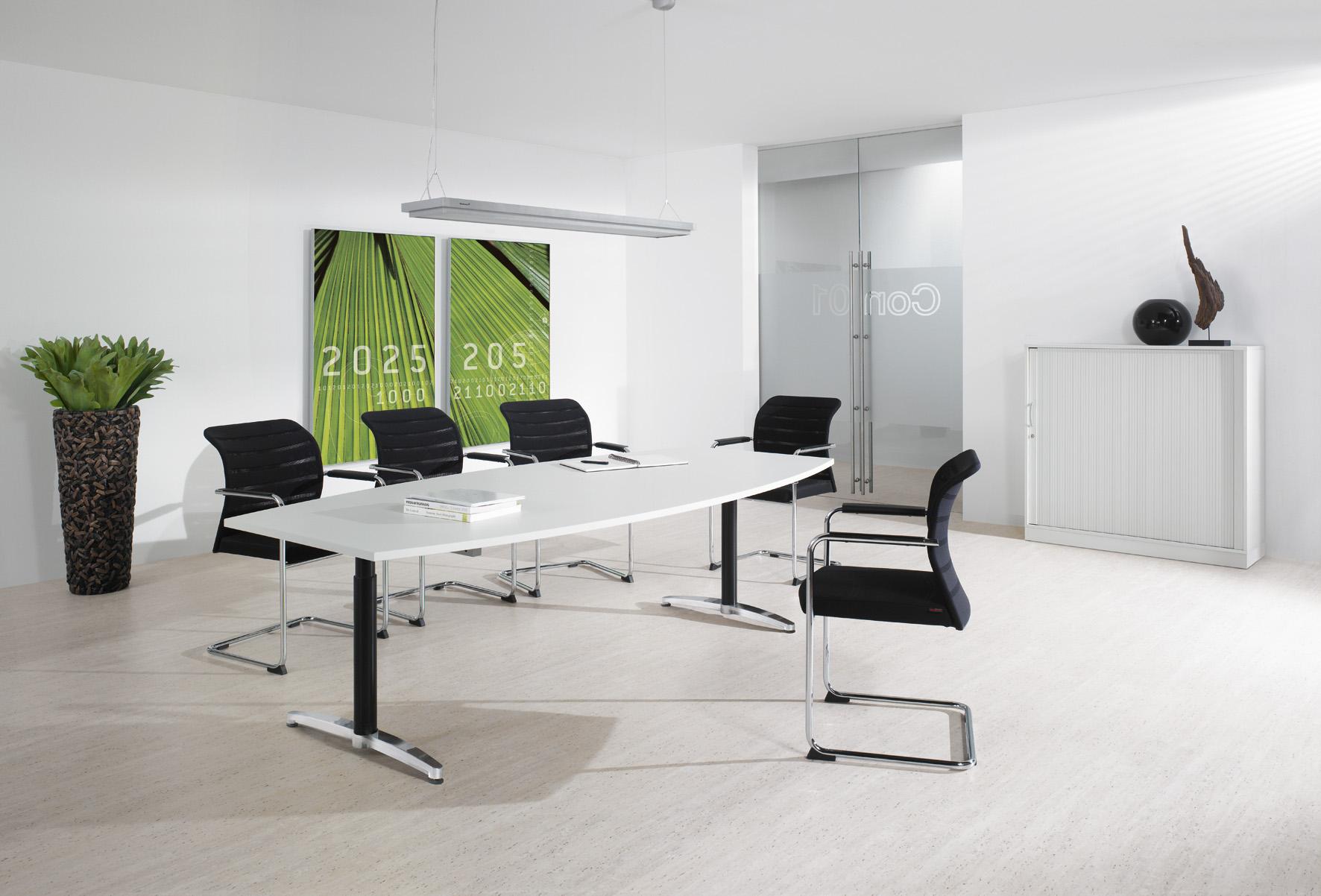 Schreibtisch & Konferenztisch für den Besprechungsraum